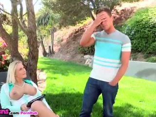 Moms Bang Teens - Milf shows her hot stepdaughter how to fuck