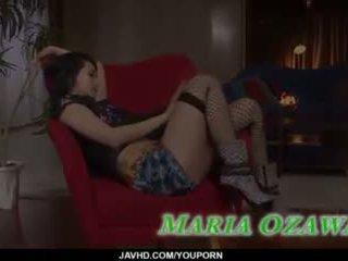Sexy sexo a três porno ação ao longo magra maria ozawa