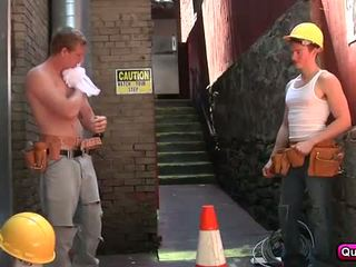 Hunk and Newbie Worker Have Sex at Work
