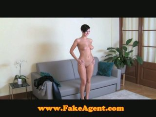 Brunette fucked by fake agent