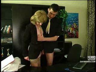 crossdresser, kantoor, anaal