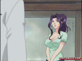 Mama japoniškas hentai gets squeezed jos bigboobs