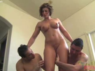 see brunette quality, ideal ass quality, threesome