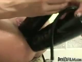 Porn slut Alyssa Reece feels the holewhacking toy going deeper in her