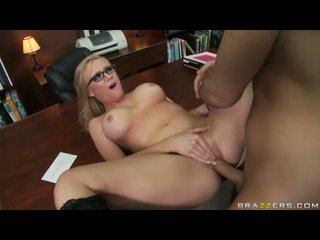 Horny Office Cutie Dylan Riley Receives Her Taut Twat Fucked Silly Over The Desk