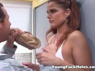 Blackmailed เด็กนักเรียนหญิง has a เซ็กส์สามคน