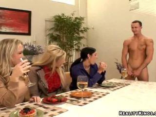 Three Housewives Invite Gigolo