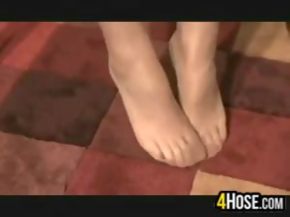 caucasian, solo girl, feet