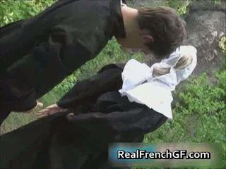 Slutty franceze murgeshë fucked jashtë porno