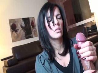 brunette, sex bằng miệng, deepthroat