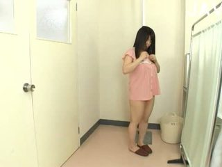 brunette, japanese, store bryster