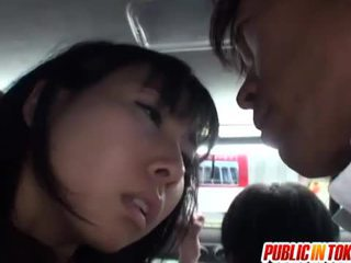 Japanisch muschi stimulated auf die bus