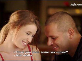 第一次, 色情影片, 勉强法律美眉