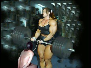 Female bodybuilding fbb bodybuilder gbb femdom