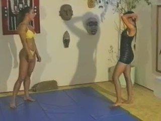 Topless Wrestling - Charlene Rink vs. Sab .
