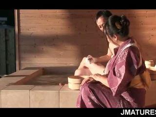 日本の, おばあちゃん, 成熟した