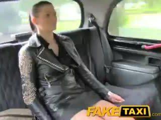 FakeTaxi Brunette club hostess in cash dilemma