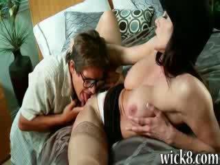 Huge rack brunette milf Kendra Lust in stockings cock riding