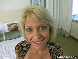 Horny Blonde Mommy Fucks Like Crazy Video