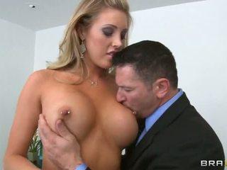 agradable tetas grandes hq, caliente sexo en el pecho, ver garganta profunda más
