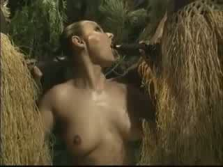 アフリカ系 brutally ファック アメリカン 女性 で ジャングル ビデオ