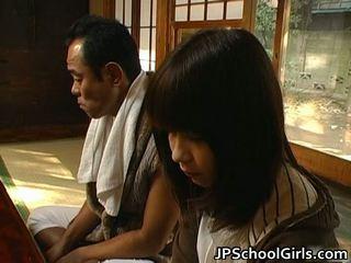 Haru sakuragi ασιάτης/ισσα κορίτσι του σχολείου has σεξ