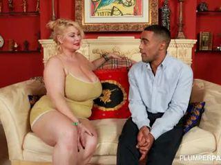 Wanita gemuk cantik superstar samantha 38g fucks terangsang hitam fan