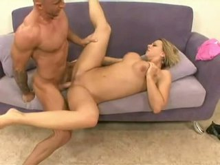 Brianna Beach Works Giant Pecker With Constricted Twat Gettting Cum On Sweet Rack