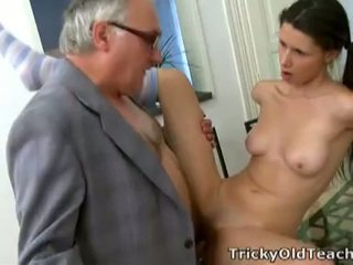 Simona's blowjob of old teacher