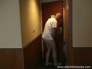 Dutch Fantasies: Naughty maid fucks and sucks a big cock