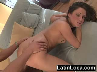 Latina first timer fucked hard by a cock with no condom