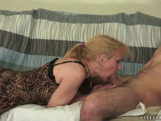 Granny and boy making love