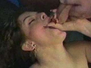 Nikki Dial cum spermshot stimulating on Face