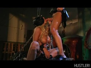 CAndy Manson Hawt Blonde With Mask Engulfing A Hard Dick