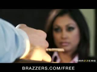Hot & Horny BIG Tit Indian Pornstar Priya Rai fucks dick in offic