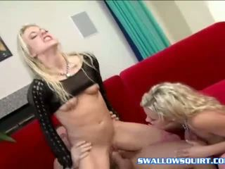 Hot squirt action with Angela Stone and Bree Olsen