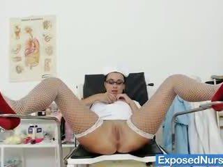 Kirsten Plant naughty nurse speculum plays