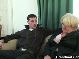 see old film, 3some video, fun grandma