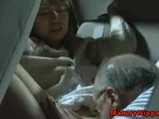 Japanese Mature MILF Gets Oralsex