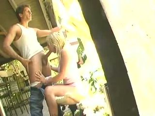 Brittney Skye Munching A Large Hard Jock Outdoor