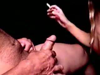 Slutty Brunette Smoker Brooke Bennett Gives Blowjob