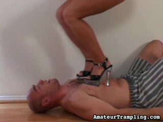 Amateur Trampling Presents Collection Of Foot Fetish Clips