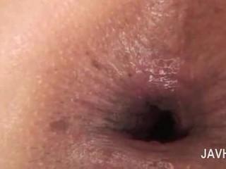 Asiatisch anal sahnetorte im close-up mit nackt rallig mieze