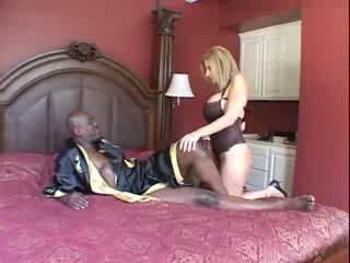 Busty mature and big black cock Video