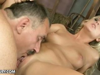 Grandpas Fuck Teens: Barbie White gets fucked by horny daddy