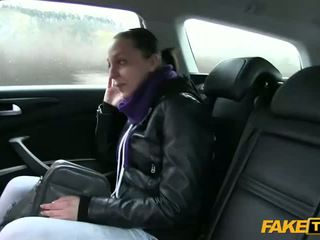 Amateur chick fucked at the back seat