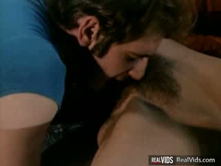 Hairy Pussy gets poked by two Dicks