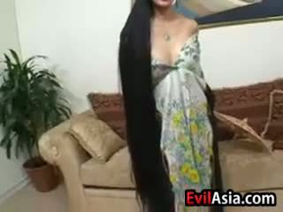 Mature Asian With Long Hair