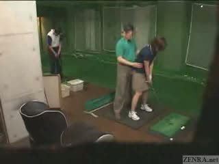 대단히 손 에 일본의 골프 lesson