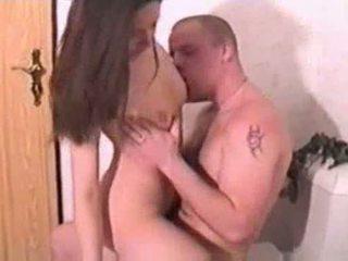 Beautiful eyes babe giving a sensual blowjob Video